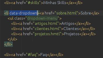 JS-0505 - JavaScript Completo ES6 - Dropdown Menu e Event Bubbling